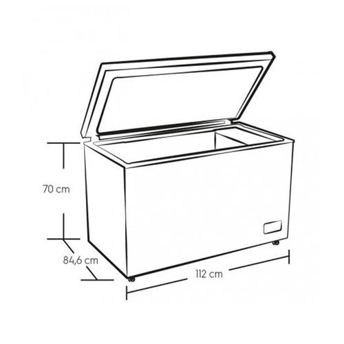 congelador efcc32c3hqw horizontal electrolux 320l dual