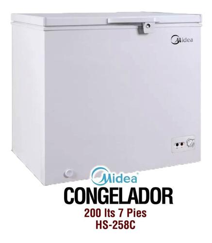 congelador midea 200l - 7 pies incluido iva