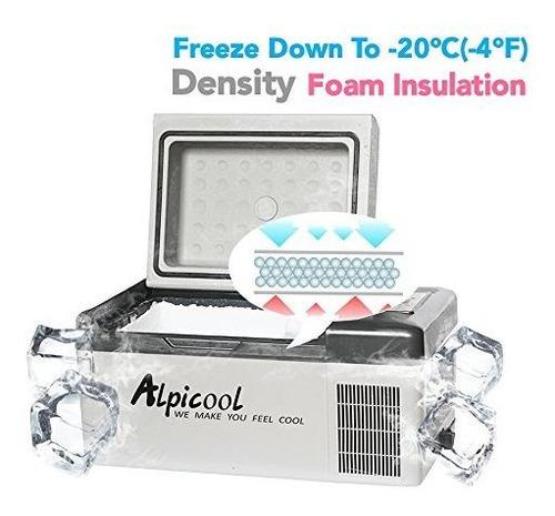 congelador portatil alpicool c20 21quart20liter para automov