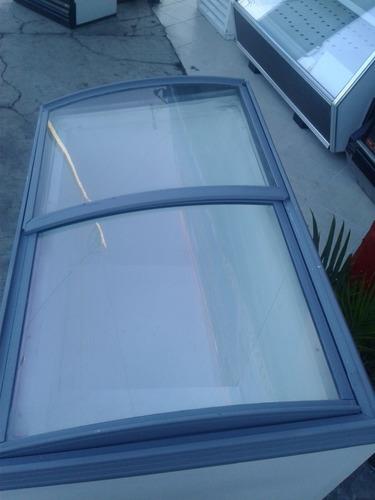 congelador tipo paletero vidrio curvo ojeda