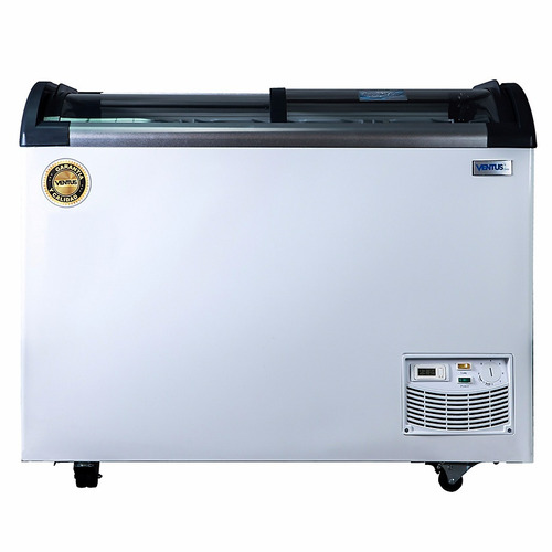congeladora horizontal 320 lts vidrio led garantía/ ekipar