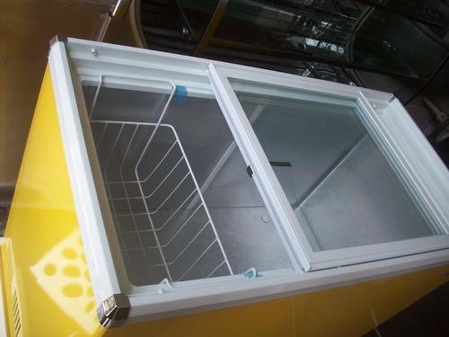 congeladora tapa de vidrio nuevo!! 210 litros