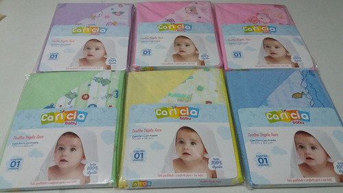 conj 2 toalhas de banho para bebês - menina e menino