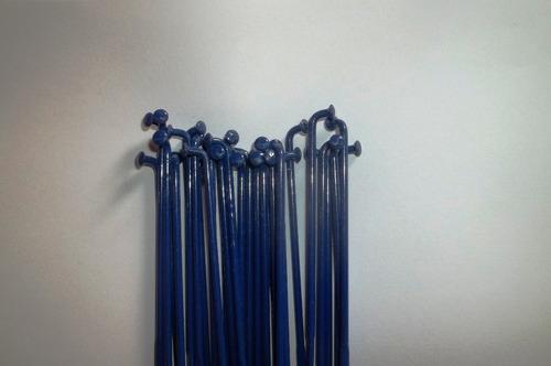 conj 36 raios 265x2.0 aço torcido azul pintado po 366