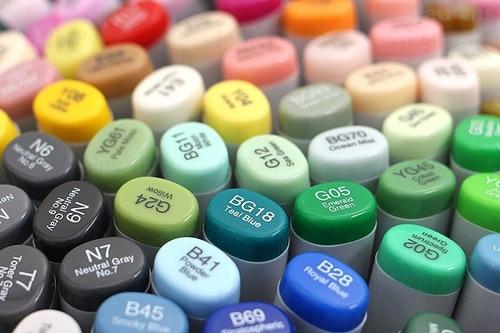 conj caneta marcador copic sketch marker 72 cores