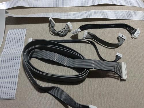 conj. completo de cabos e flats plasma samsung pl60f5000ag