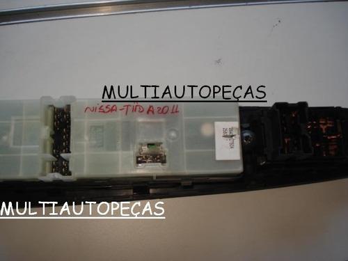 conj de botão e retrovisor eletrico da porta nissa tiida 011