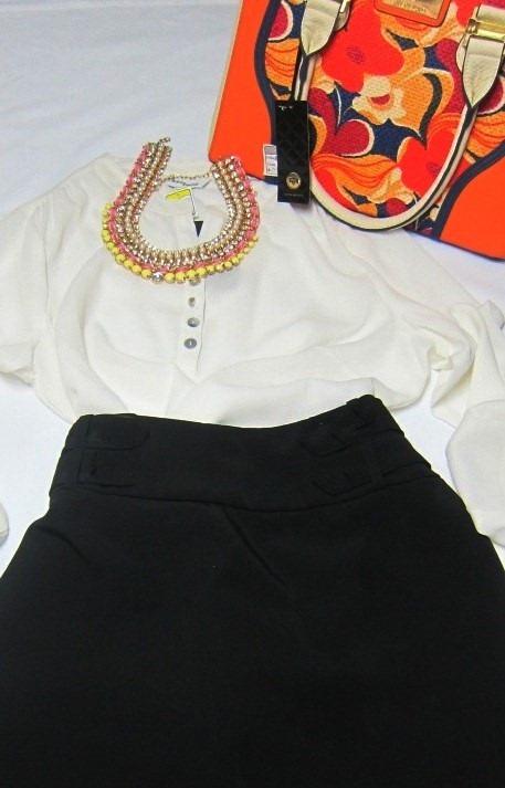 8c8e35a70 Conj Saia Lapis Cintura Alta E Blazer Clássico Com Elastano - R$ 225 ...