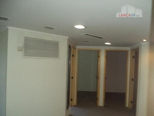 conj.com.locação edifício morumbi 12 salas,3 wo,4 vagas - cj0035
