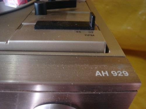 conjto de som 3 x 1 philips ah-929 raro-dourado - c/ cxs. ok