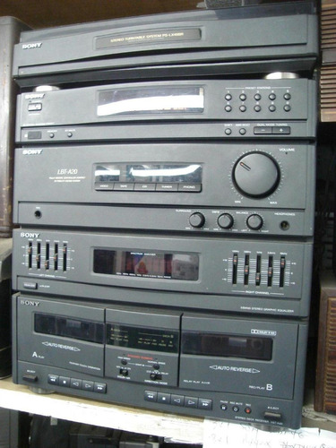 conjto de som sony lbt-a20 - td+cd+fm/am+d.deck+2 cx. acust.