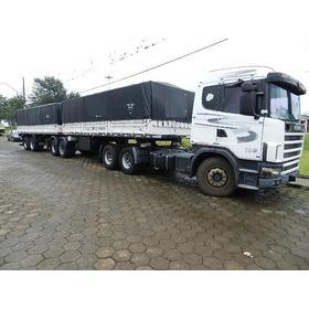 Conjuntaço Scania R 124 360 6x2 Engatado Bitrem Randon 2005