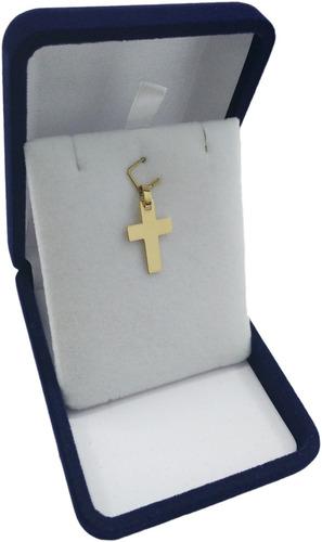 conjunto 16 oro amarillo 18k cadena y cruz plana 2 j esponda