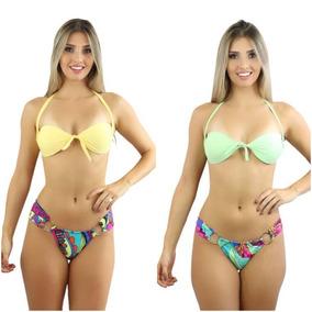 e5d7bf905a68 Lindo Biquini Estampado + Outra Parte De Cima Lisa! - Moda Praia com o Melhores  Preços no Mercado Livre Brasil