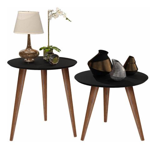 conjunto 2 mesas lateral e apoio cissa menor preço promoção