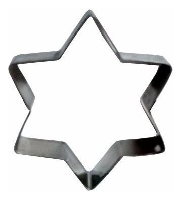 conjunto 3 cortador de massa biscoito pasta estrela inox