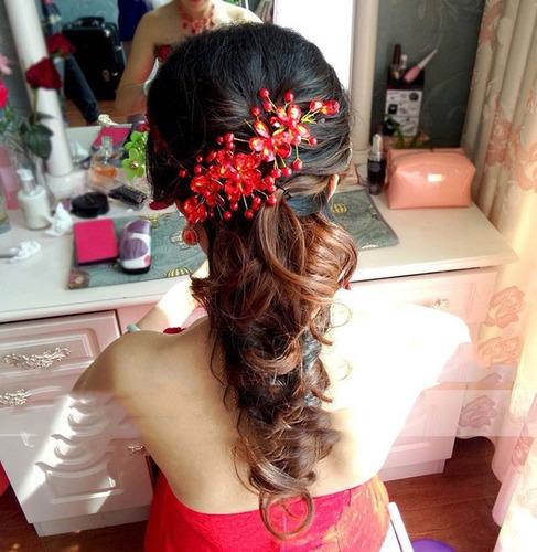 conjunto 3 pecas coroa brincos colar cabelo noiva nupcial