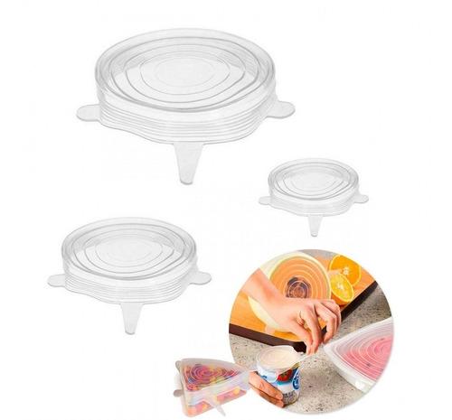 conjunto 3 tampas herméticas de silicone reguláveis - prana
