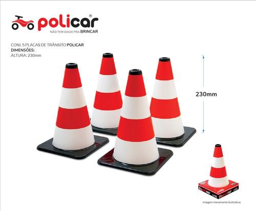 conjunto 4 cones educativos de brinquedo - policar® 7294