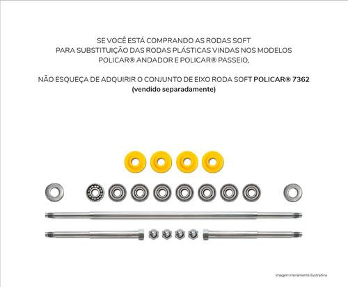 conjunto 4 rodas soft pró - policar® 7775