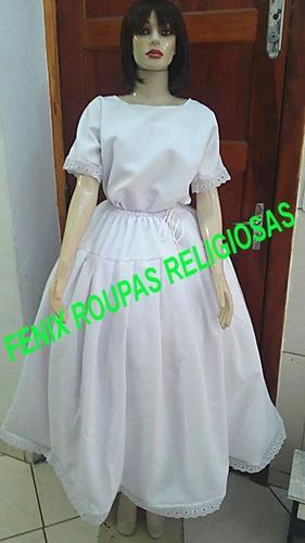 conjunto 4pçs oxf luxo roupas ração/orixás umbanda/candomblé