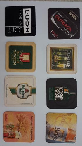 conjunto 8 bolachas chopp / cerveja (coasters, porta copos)
