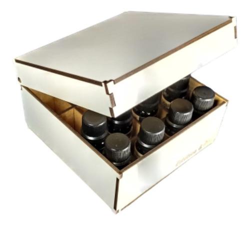 conjunto 8 óleos essenciais com 10ml via aroma com caixa mdf