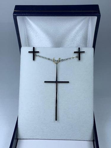 conjunto acero modelo cruz fino