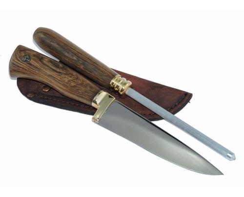 conjunto aço alemão faca chaira bainha 5 pol gravação grátis