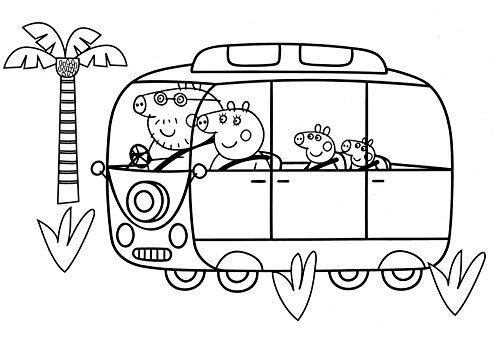 Conjunto Actividades Arte Peppa Pig Con Páginas Libros Color ...