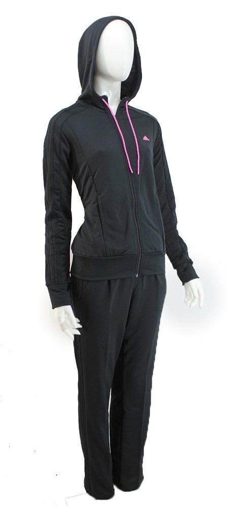 17ac314f0a3f5 conjunto adidas capucha acetato negro mujer   deporfan. Cargando zoom.
