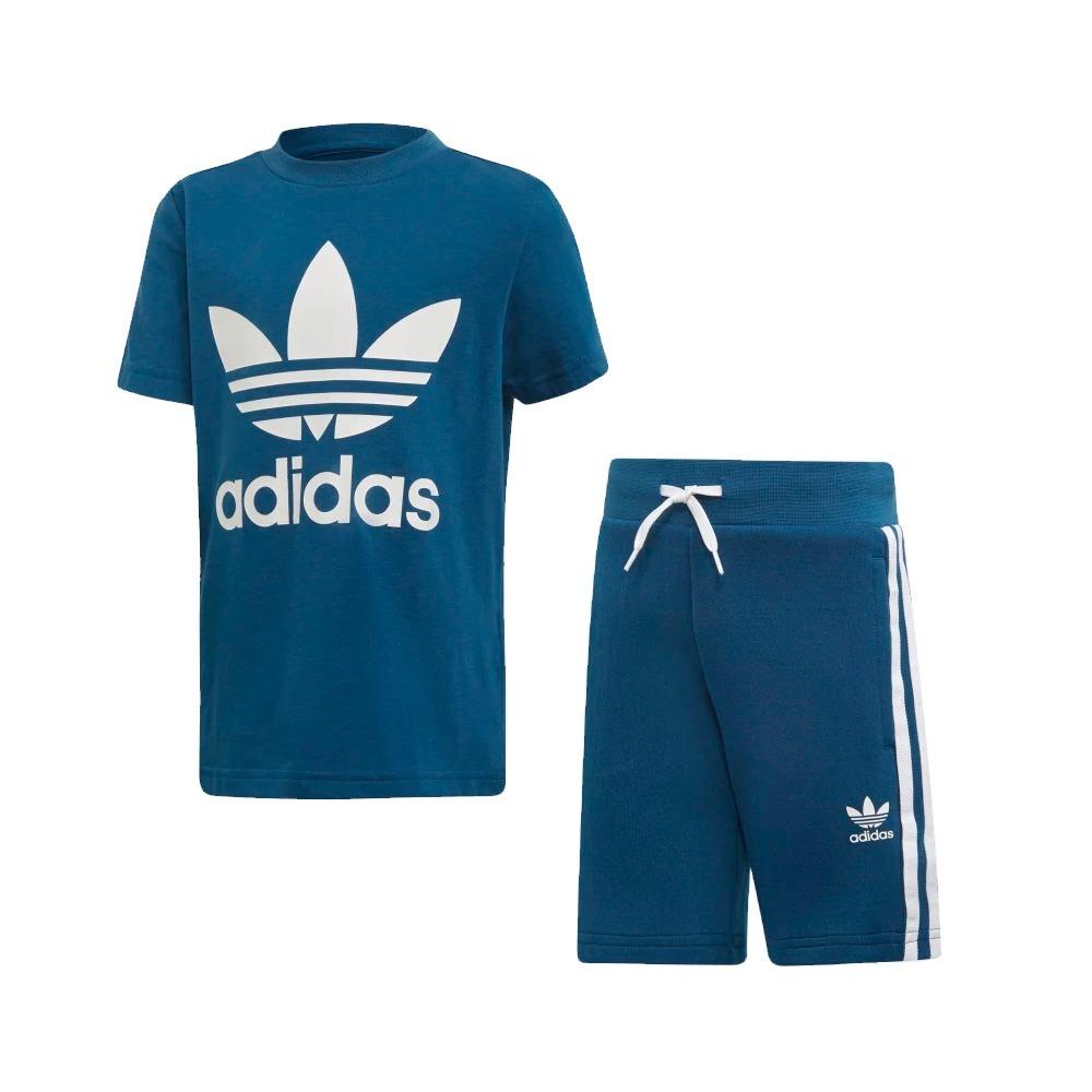 82318ad531 conjunto adidas trefoil infantil shorts camiseta azul dv2851. Carregando  zoom.