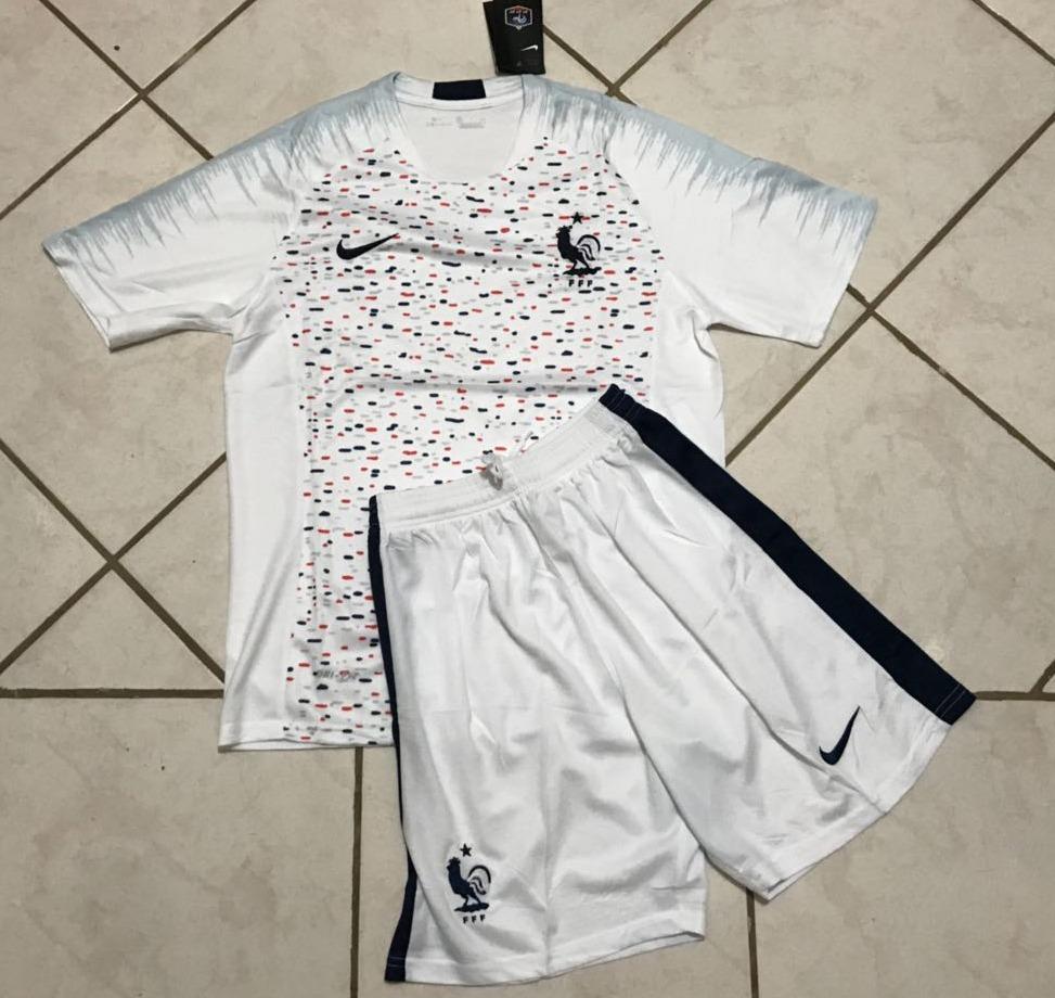 conjunto adulto camisa e shorts seleção frança oficial nike. Carregando zoom . 9606883c403d3