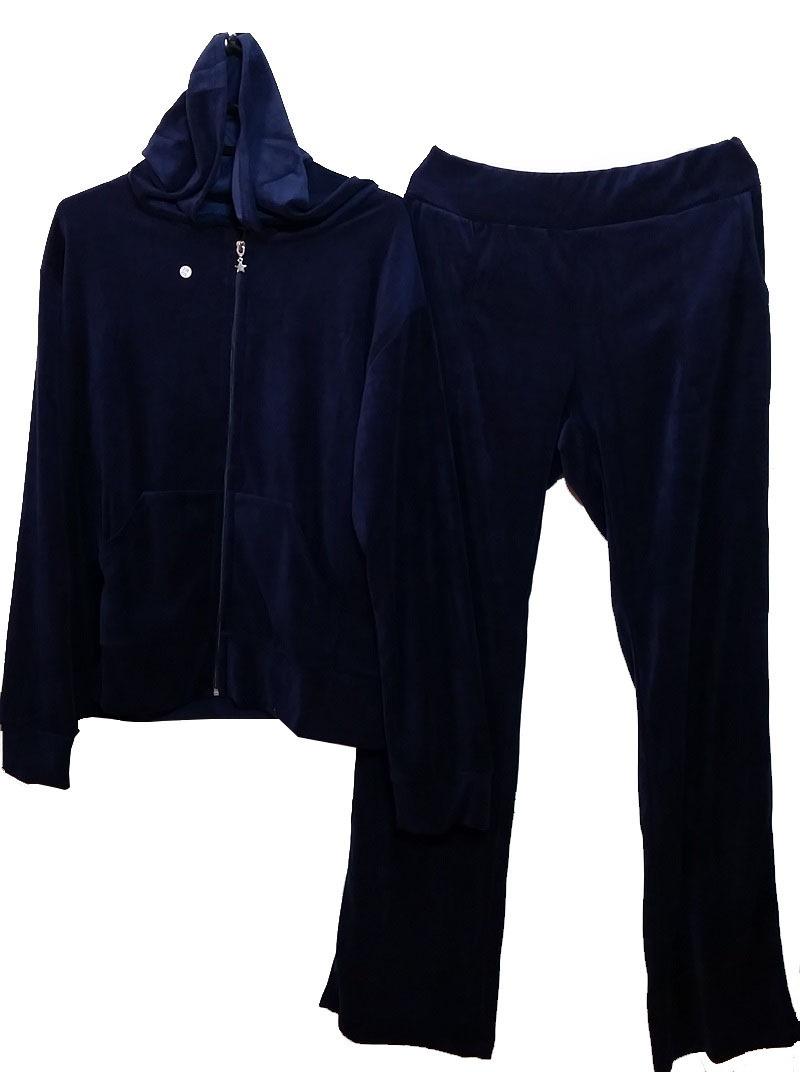 conjunto adulto feminino plush preto bordô azul cinza oferta. Carregando  zoom. a0b9a89924d27