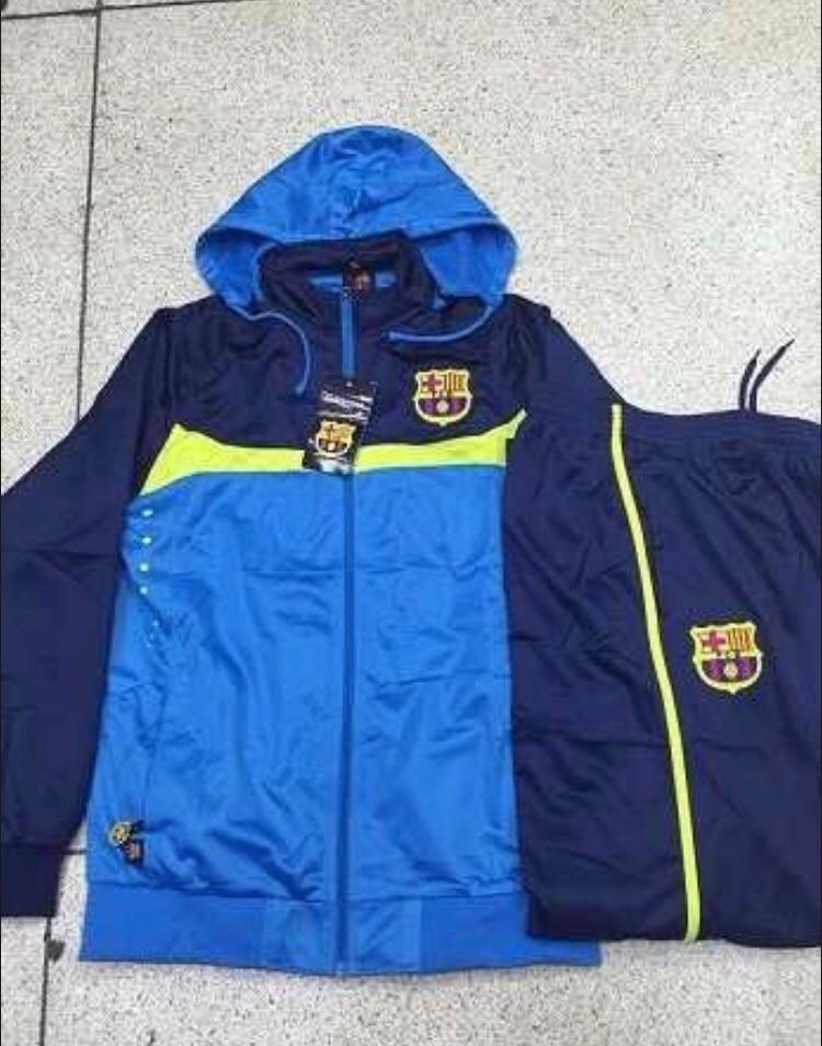 conjunto agasalho barcelona azul frete grátis pronto entrega. Carregando  zoom. 3be41a1b65fb3