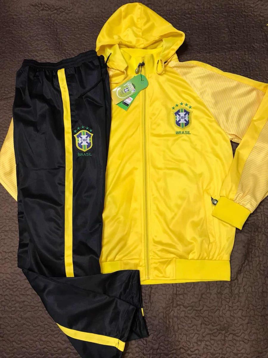 conjunto agasalho brasil seleção novo blusa calça amarelo. Carregando zoom. c5fbb197c5385