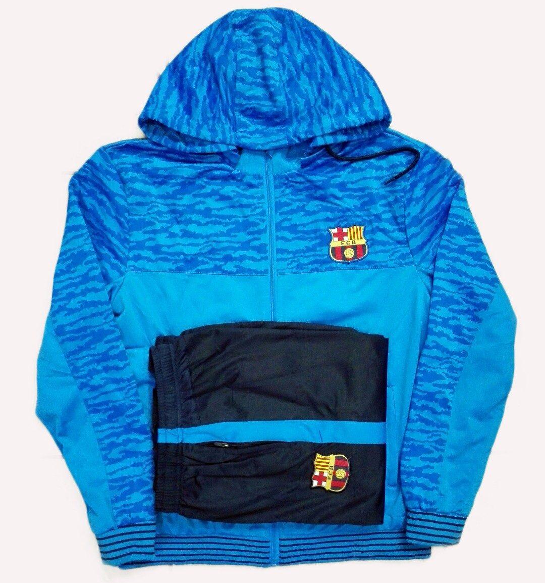 e360ae3594 conjunto agasalho calça blusa time barcelona azul original. Carregando zoom.