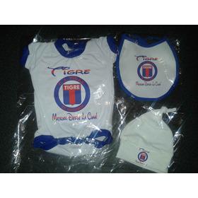 Conjunto Ajuar Kit Bebe Futbol X3 Prendas Body +extras Tigre