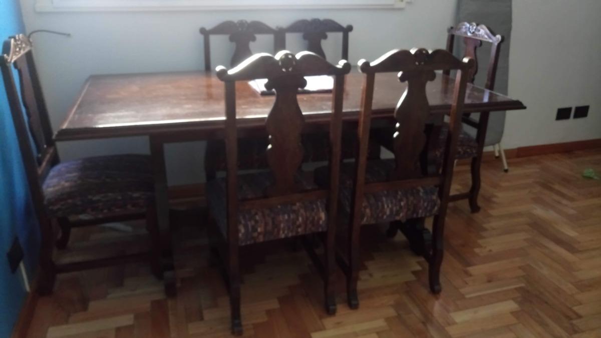 Conjunto Antiguo Mesa + 6 Sillas - Comedor - $ 18.000,00