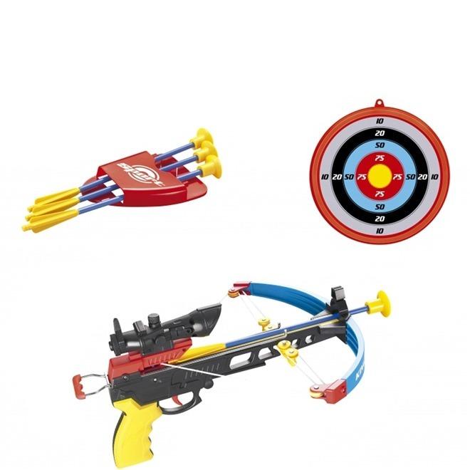 52a0ba0243a Conjunto Arco E Flecha Crossbow Tipo Besta Com Mira Led - R$ 149,99 ...