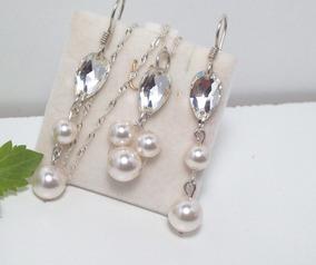 c63167706c6b Conjunto Collar Y Aros Perlas - Aros en Mercado Libre Argentina