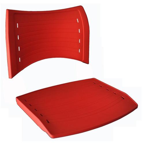 conjunto assento e encosto cadeira iso polipropileno