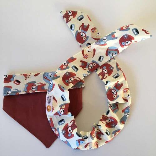 conjunto bandana dupla face cão gato e tiara/faixa pet shop