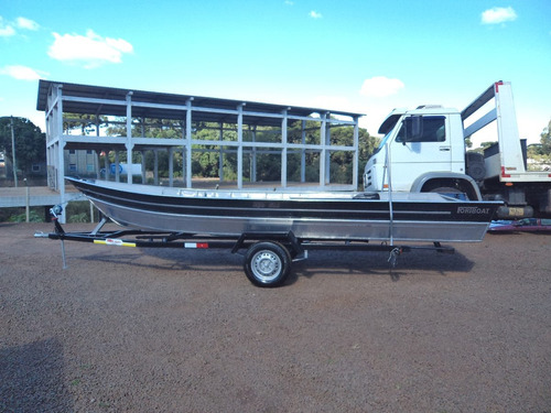 conjunto barco alumínio 600+15hp mercury+carretinha  novo.