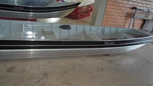 conjunto barco alumínio way 600 +15hp mercury + carreta