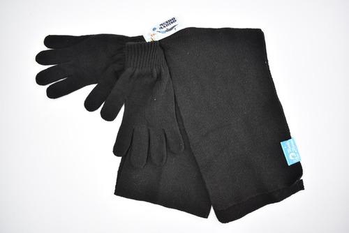 conjunto básico bufanda+guentes hombre mundo marino