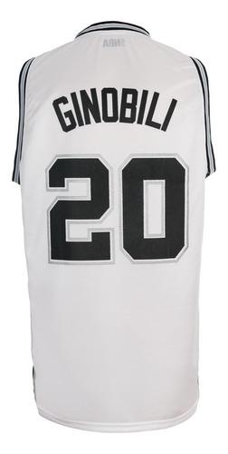 conjunto basket spurs nba camiseta short manu ginobili