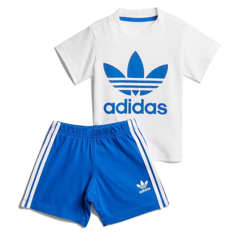 sitio web para descuento comprar genuino Precio reducido Conjunto Bebê adidas Originals Shorts E Camiseta Azul Ce1995