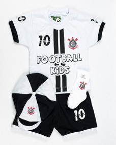 68c1047bd9bc11 Conjunto Bebê Corinthians Infantil Masculino