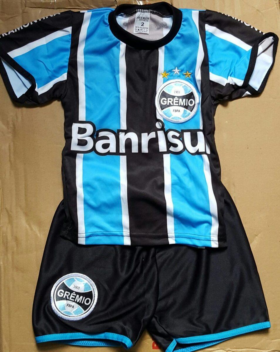 fc8baf6cf3 Conjunto Bebê Infantil Para Criança Do Grêmio 2016 P.entrega - R  29 ...